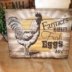 """Farmer's Market Fresh Eggs"" Wall Sign"